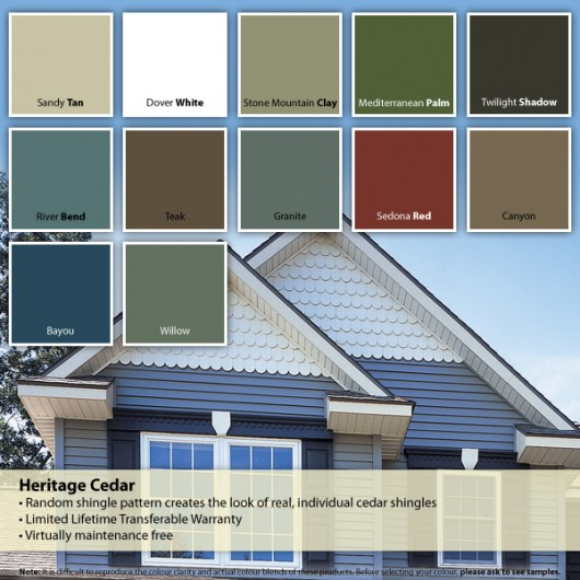 Siding Colour Chart